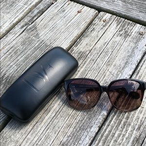 DVF oversized sunglasses with case